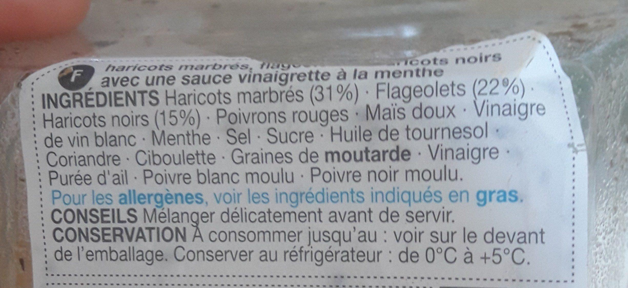 Salade Trois Haricots - Ингредиенты - fr