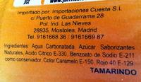 Jarritos, soda, tamarind tamarndo, tamarind tamarndo - Ingrediënten