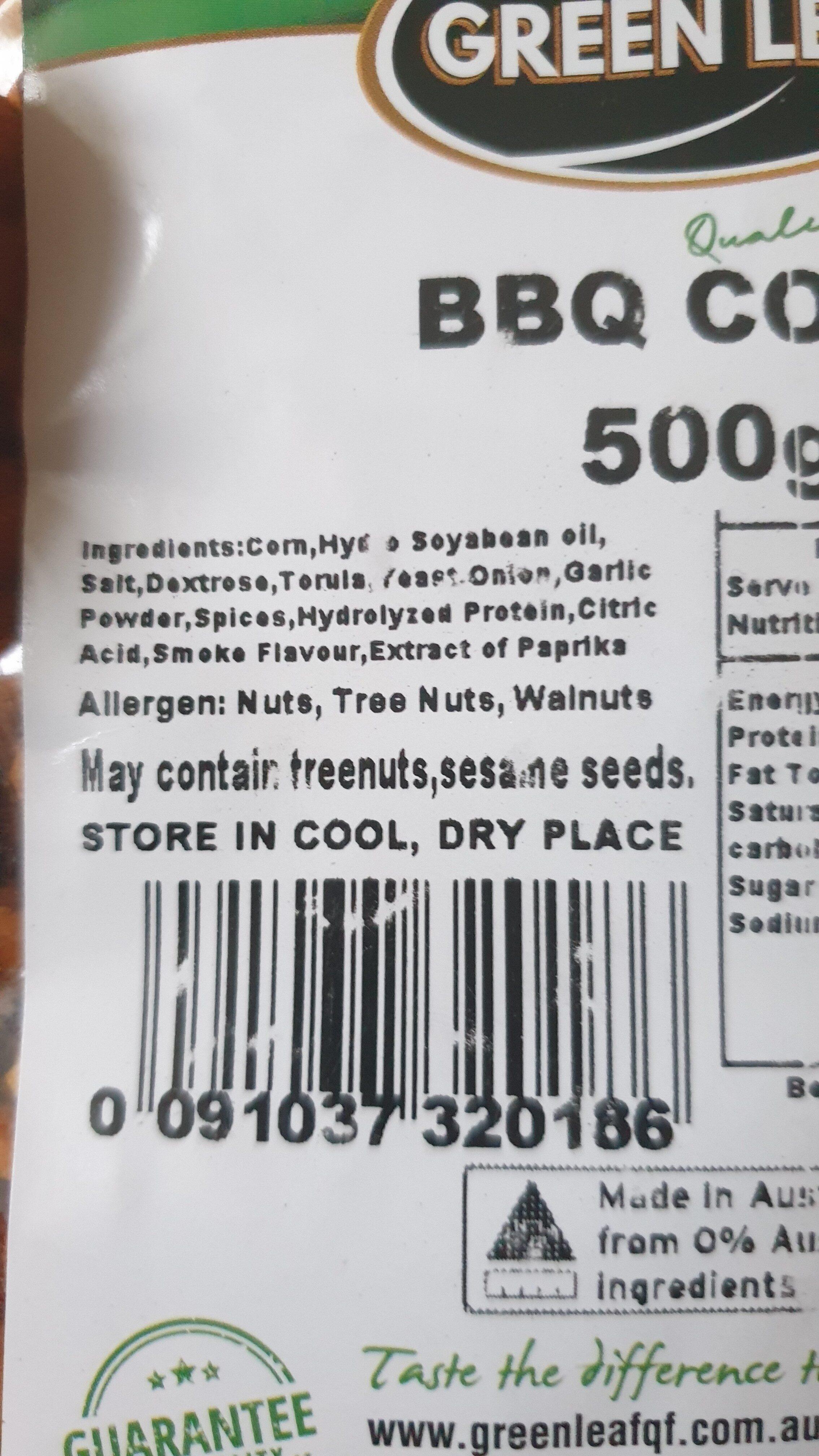 BBQ Corn - Ingrédients - en