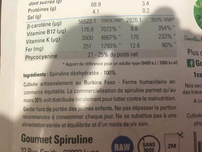 Santé & Bien-être / Résistance Et Vitalité / Spiruline - Ingrédients - fr