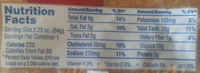 Wild blueberry muffin - Nutrition facts - en