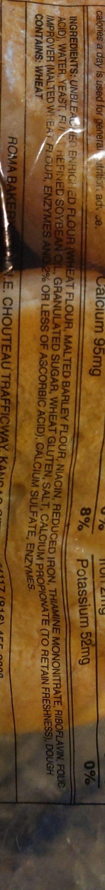 roma buns - Ingredients - en
