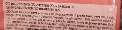 Tagliatelle ai funghi porcini - Ingredienti - it