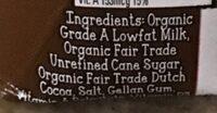 Organic 1% lowfat milk, chocolate - Ingredients - en