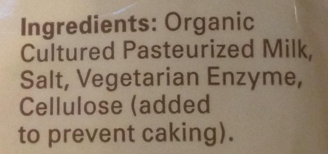 Organic valley, shredded cheddar cheese, mild - Ingredients - en