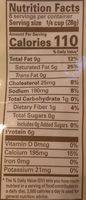 Organic valley, shredded cheddar cheese, mild - Nutrition facts - en
