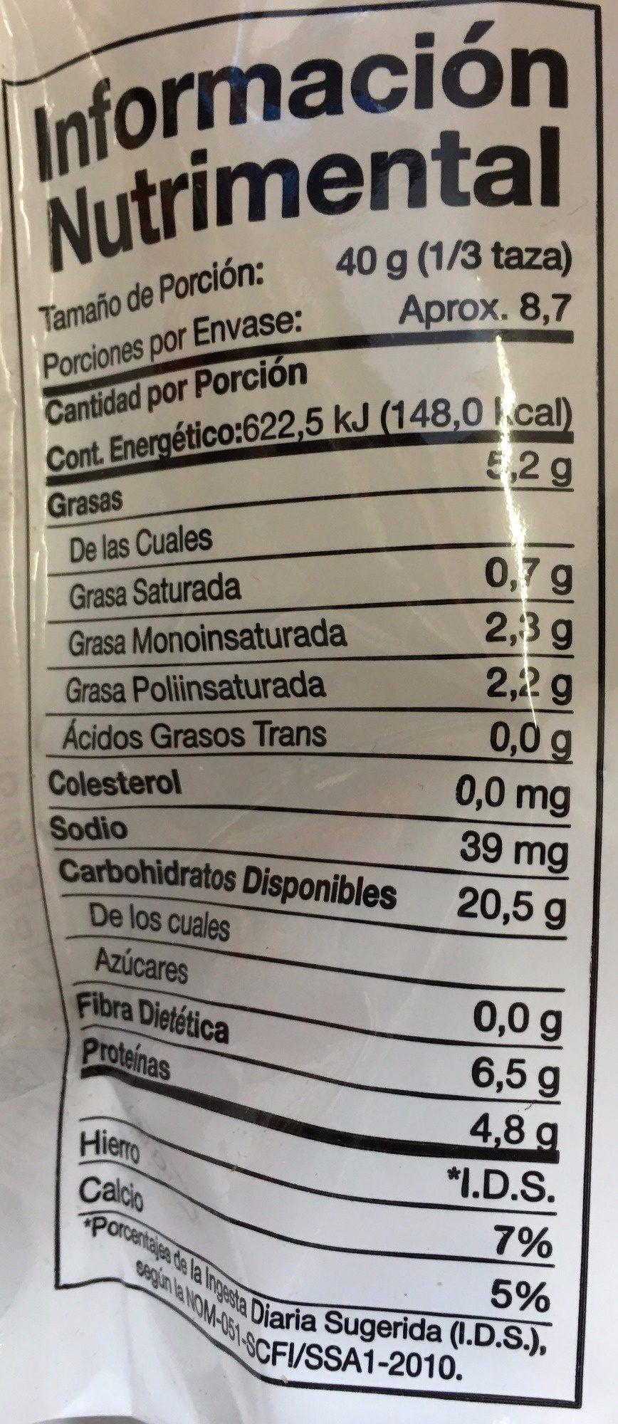 GRANOLA SIN AZUCAR - Informations nutritionnelles - es
