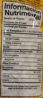 Granvita, Granola Cereal With Fruit - Nutrition facts