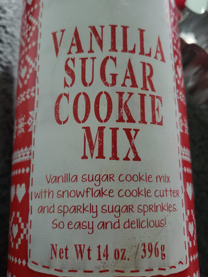 vanilla sugar cookie mix - Product