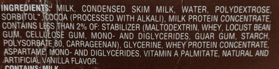 Fudge Premium Bar - Ingredients