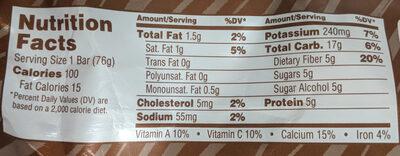 Fudge Premium Bar - Nutrition facts