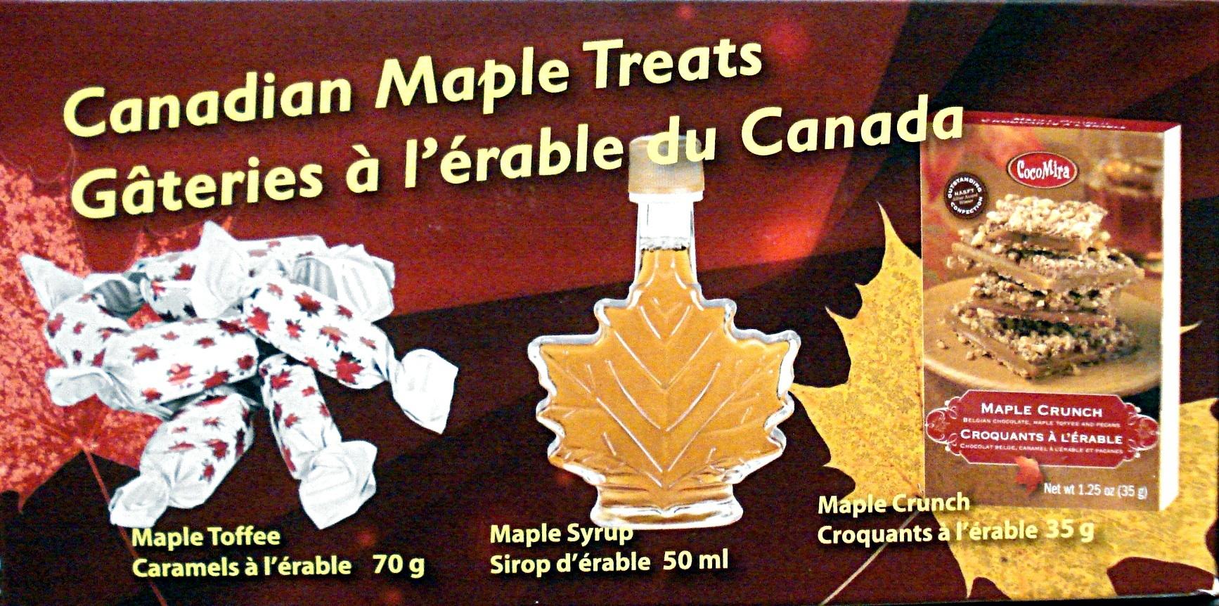 Gâteries à l'érable du Canada - Produit