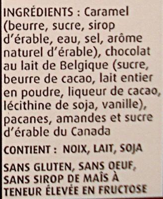 Gâteries à l'érable du Canada - Ingredients