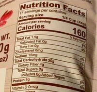 Muesli - Nutrition facts - en