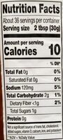 Organic salsa - Nutrition facts - en