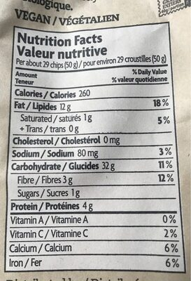 Que Pasa Tortilla Chips - Nutrition facts - en