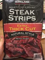 Premium Thick Cut Cured & Dried Natural Beef Steak Strips - Produit - fr