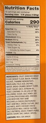 Cheese Pizza with breadcrumb crust - Nutrition facts - en