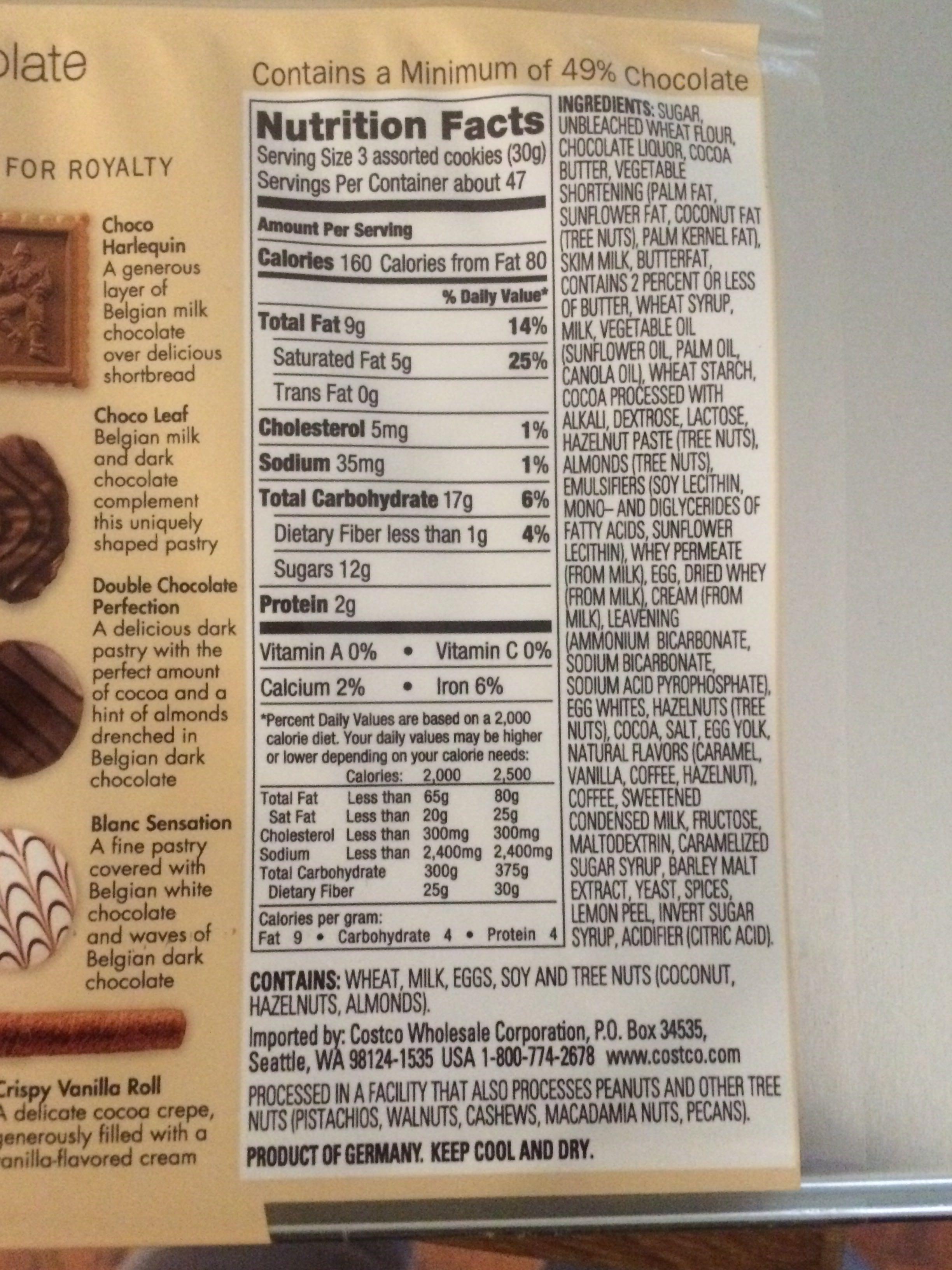 Belgian Chocolate covered Cookies - Product - en