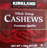 Cashews Whole Fancy By Kirkland Signature - 2.5 LB - Produit