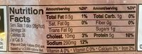 Extra lean ham - Nutrition facts - en