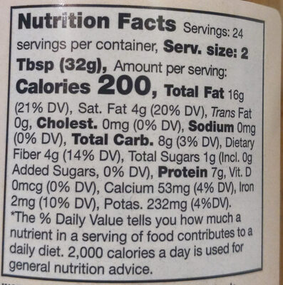 Mixed nut butter - Nutrition facts - en