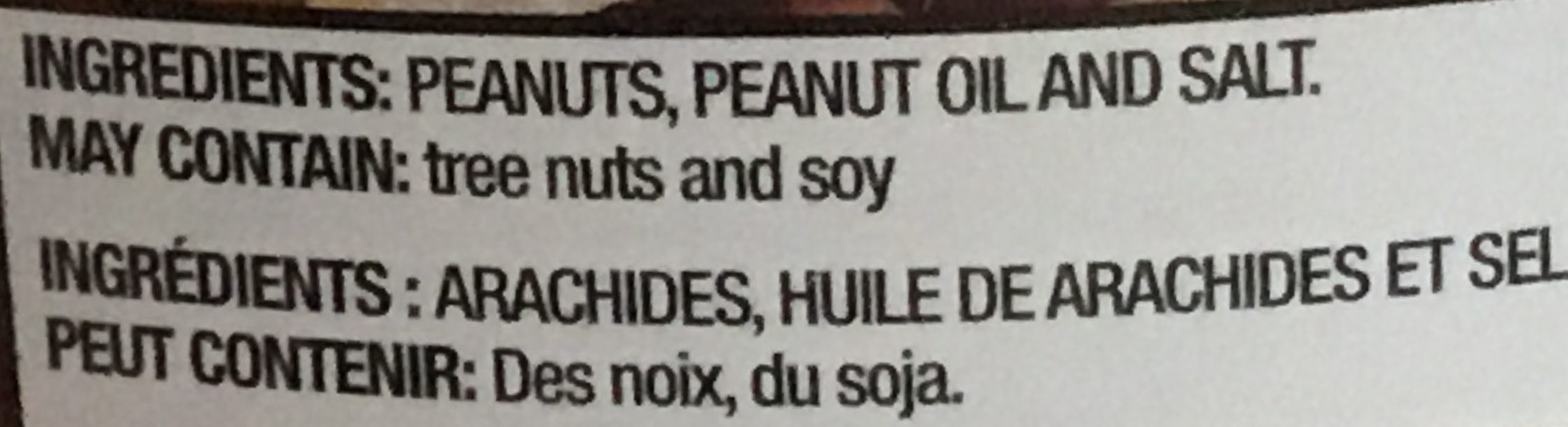 Arachides - Ingredients - fr