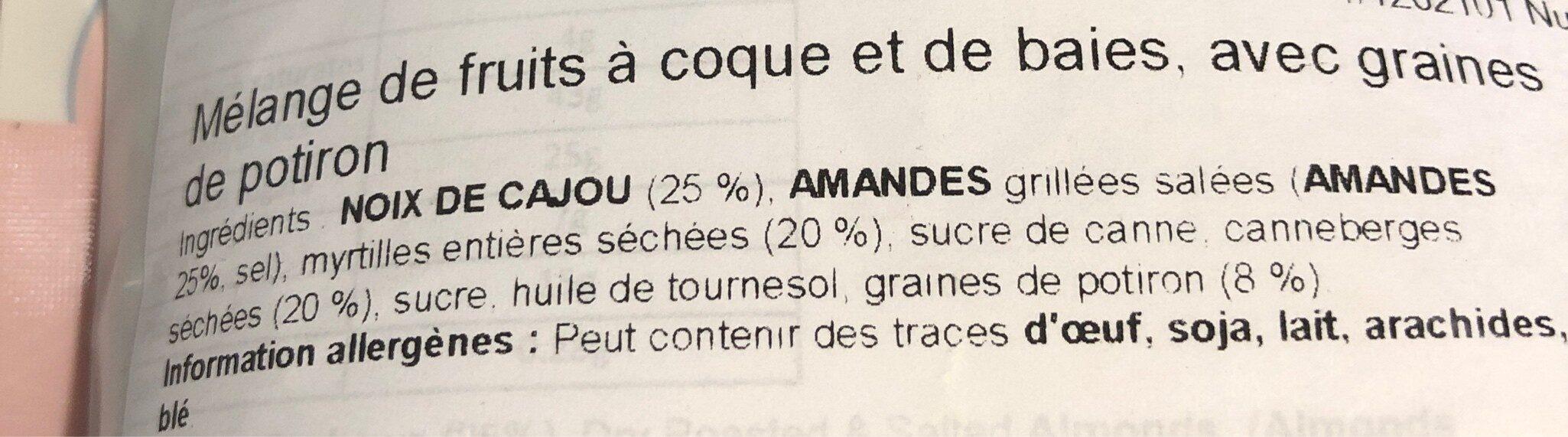 Nuts & Berries - Ingrediënten - fr