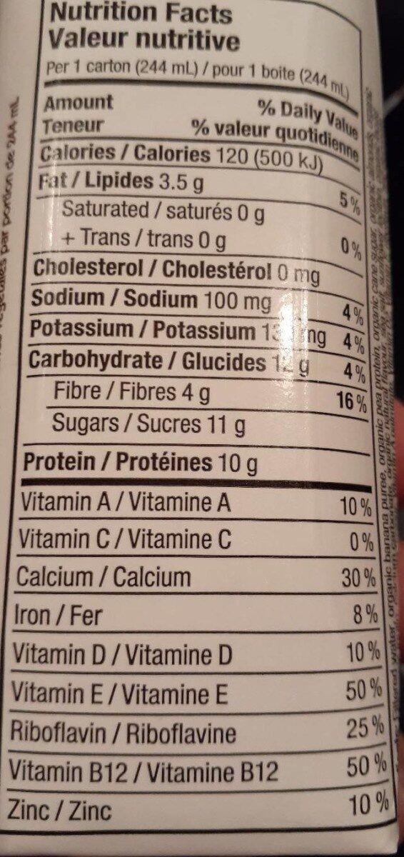 Boisson aux amandes - Nutrition facts
