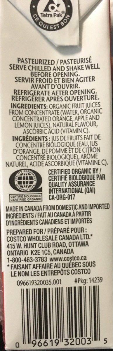 Melange orange - Ingredientes - fr