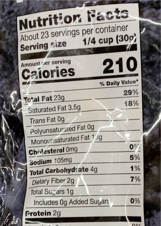 Dry Roasted Macadamia Nuts With Sea Salt - Nutrition facts - en