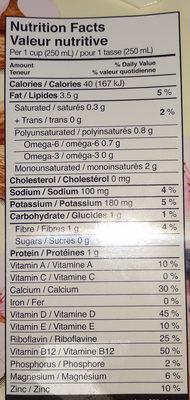 Boisson d'amandes - Informations nutritionnelles - fr