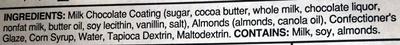 Milk Chocolate Almonds - Ingredients