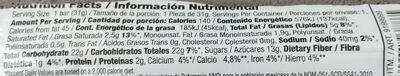 Dipped & chewy barra de granola con chispas de chocolate - Información nutricional - es