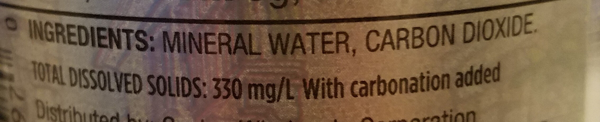 Italian Sparkling Mineral water - Ingrediënten - en