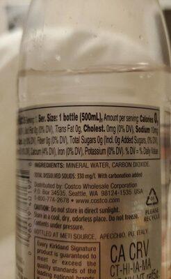 Italian Sparkling Mineral water - Voedingswaarden - en