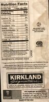 Organic Eggs Grade AA Large - Nutrition facts - fr
