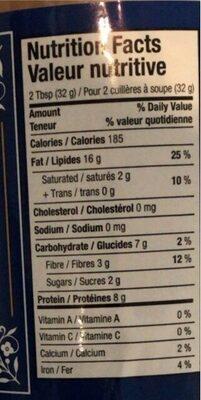 Natural Peanut Butter Creamy - Nutrition facts - en