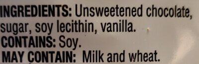 Brisures de Chocolat - Ingredients - en