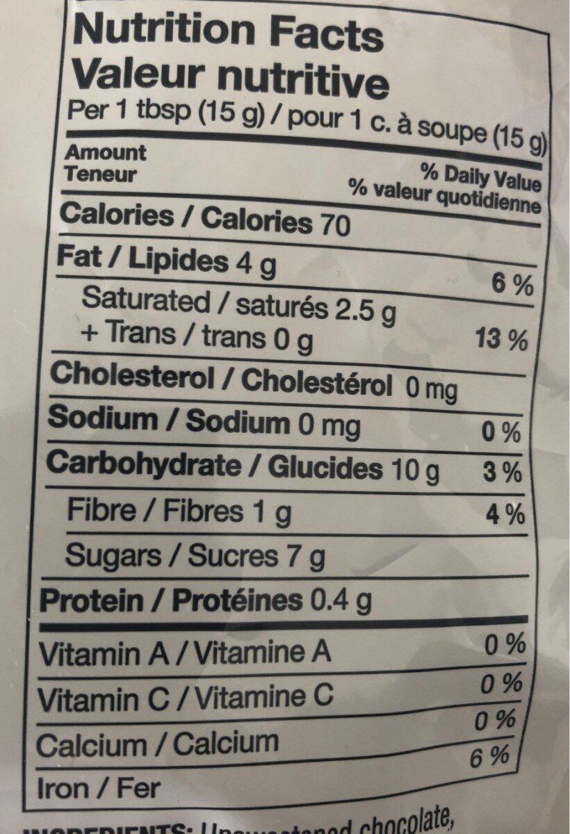 Brisures de Chocolat - Nutrition facts - en