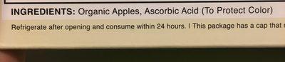 Organic apple sauce - Ingredients