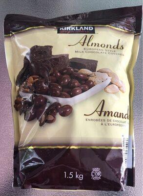 Amandes enrobées de chocolat au lait - Product - en