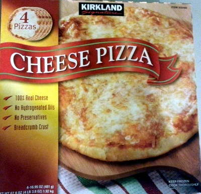 Cheese Pizza Kirkland Signature 4 Pizzas 678 Oz 4 Lb 38 Oz
