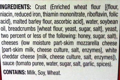 Cheese Pizza - Ingredients - en