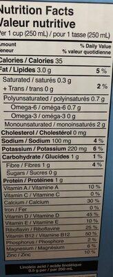 Boisson d'amande - Informations nutritionnelles - fr