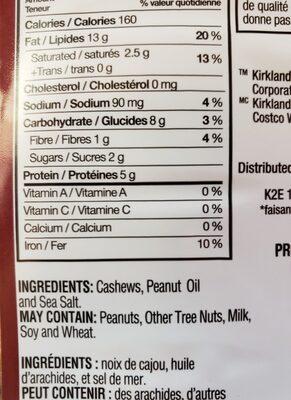 Cashews - Ingredients