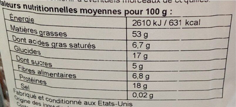 Unsalted Mixed Nuts - Nutrition facts - en