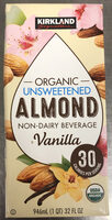 Organic unsweetened almond non-dairy beverage vanilla - Product - en