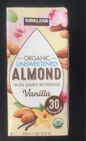 Organic unsweetened almond non-dairy beverage vanilla - Produit - fr