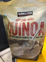 Kirkland Signature Organic Gluten-free Quinoa From Andean Farmers To Your Table - 2.04KG. , 4.5LB - Nutrition facts